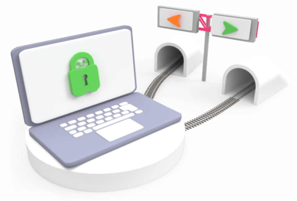 Funkcja dzielonego tunelowania w VPN